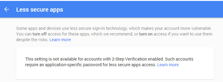 Setting SMTP relay with Google Apps email account